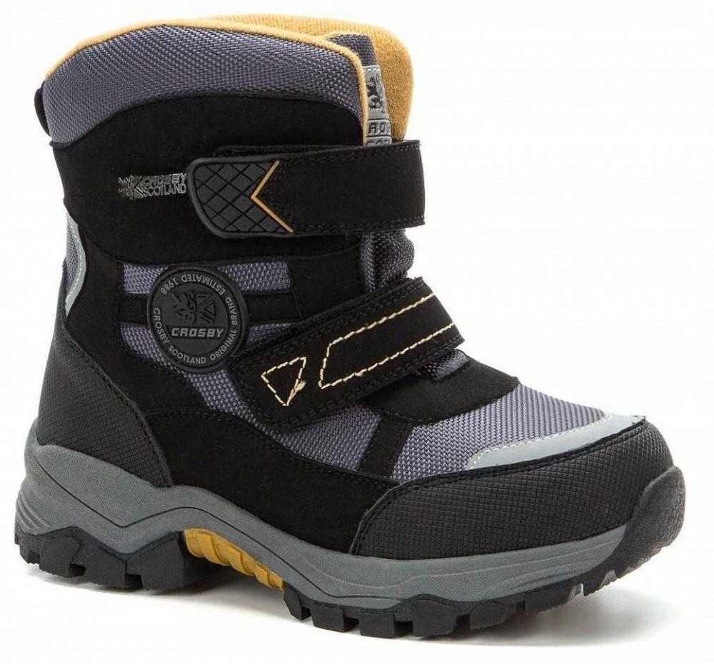 Ботинки CROSBY 208256/01-03 серый/черный